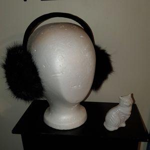Surell Faux Fox Fur Earmuffs with Velvet Band